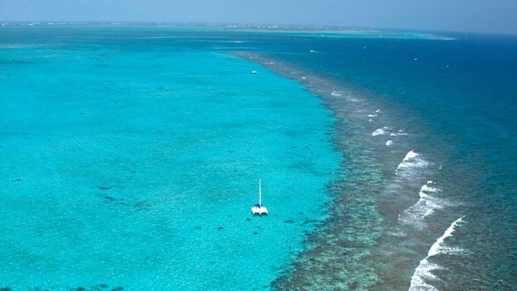 Islas Caimán ofreciendo navegación, arrecifes coloridos y vistas de paisajes