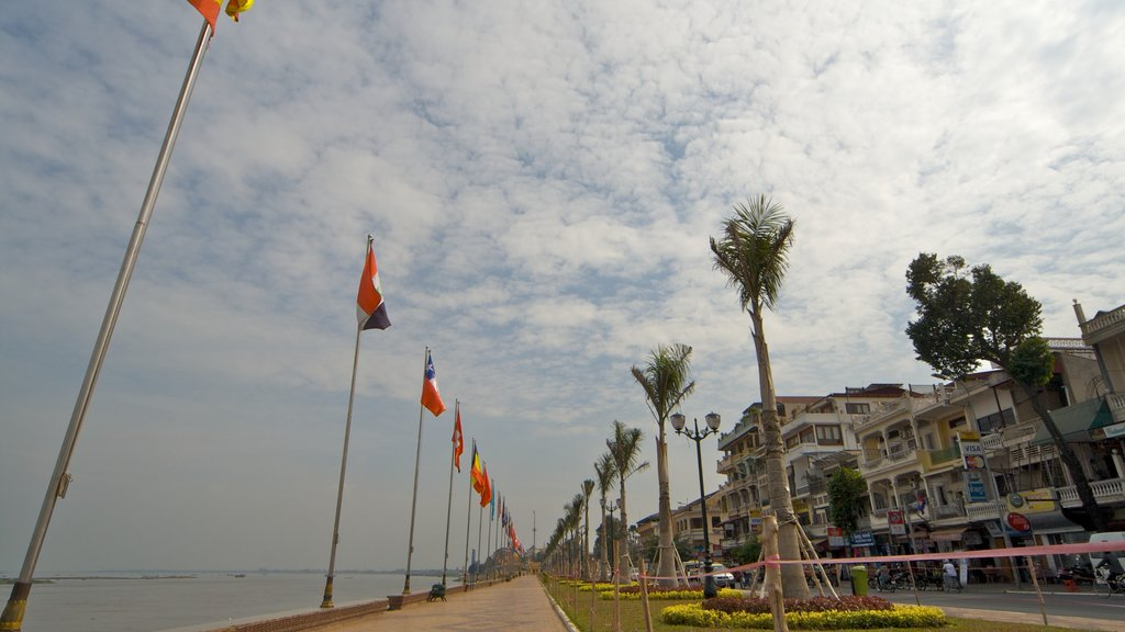 Phnom Penh which includes street scenes and a coastal town