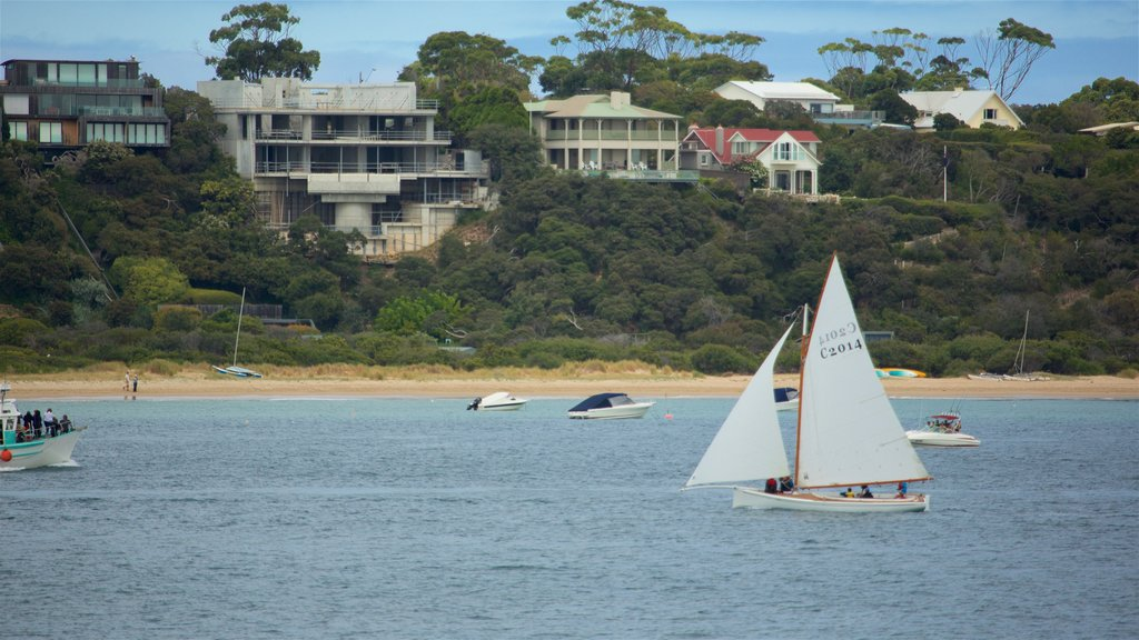 Portsea featuring a coastal town, general coastal views and boating
