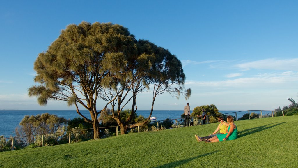 Portsea which includes general coastal views and a garden as well as a couple