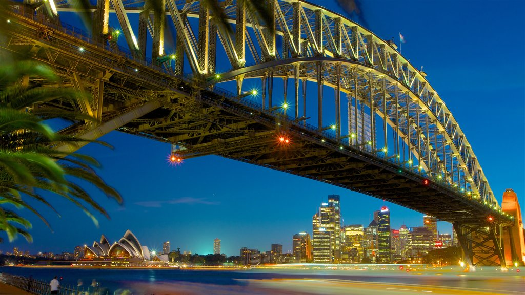 New South Wales featuring a city, a river or creek and night scenes