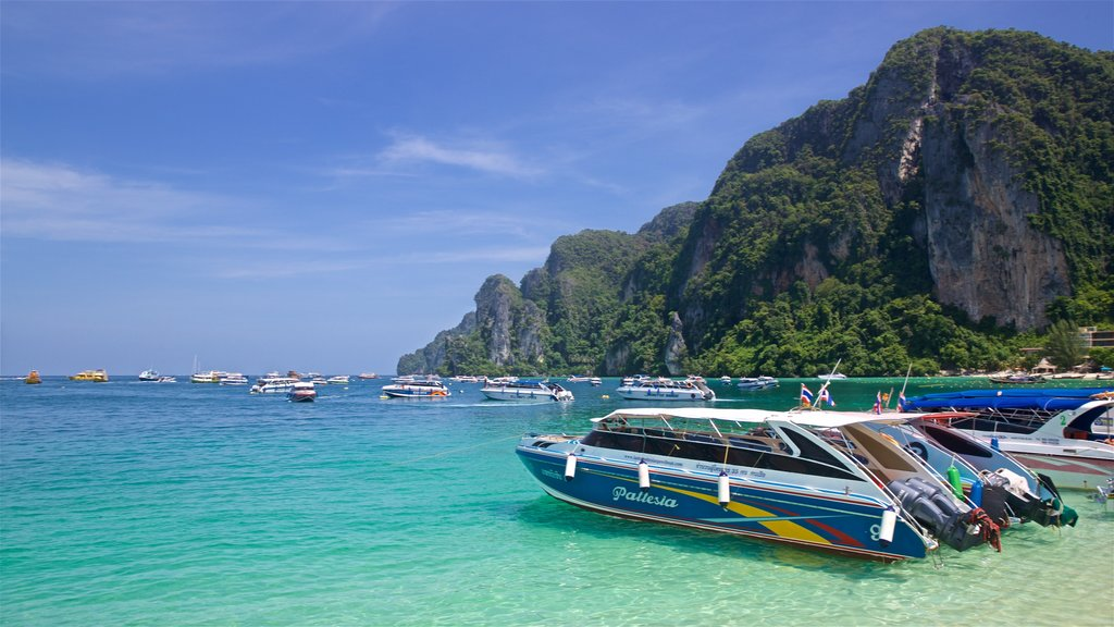Ko Phi Phi which includes mountains, general coastal views and tropical scenes