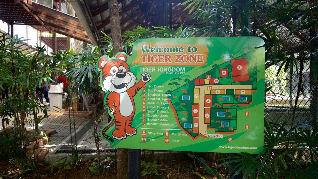 Phuket - Phang Nga which includes signage