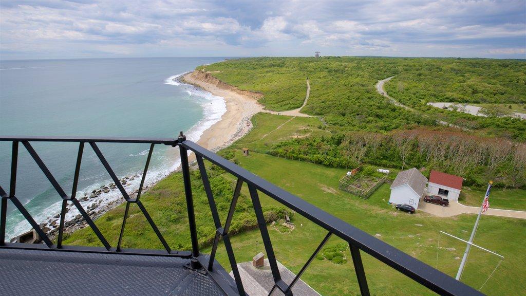 Faro Montauk Point ofreciendo escenas tranquilas, vistas generales de la costa y vistas