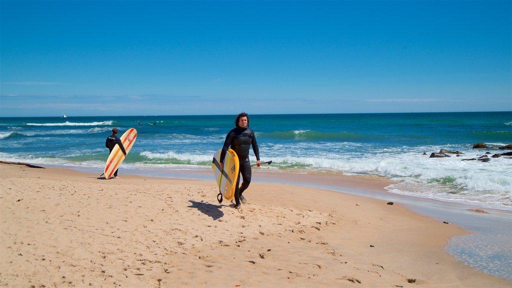 Ditch Plains Beach showing surfing, general coastal views and a sandy beach