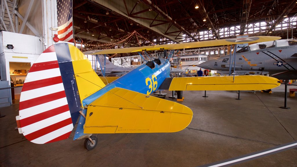 Naval Air Station Wildwood Aviation Museum which includes interior views, military items and heritage elements