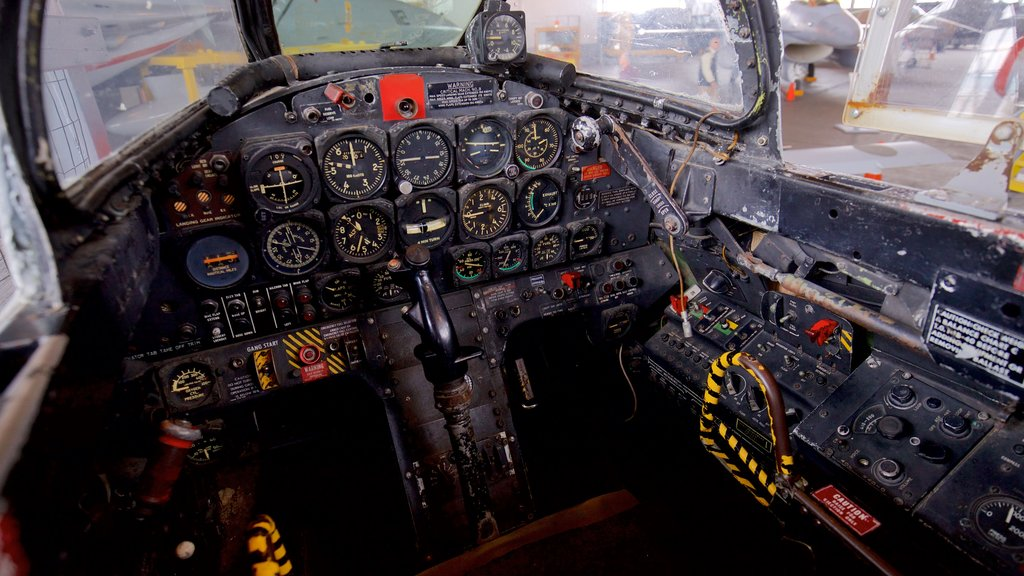 Naval Air Station Wildwood Aviation Museum showing heritage elements and interior views