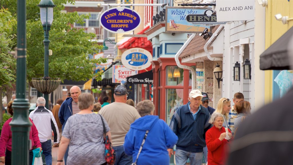 Washington Street Mall which includes street scenes and a small town or village as well as a small group of people