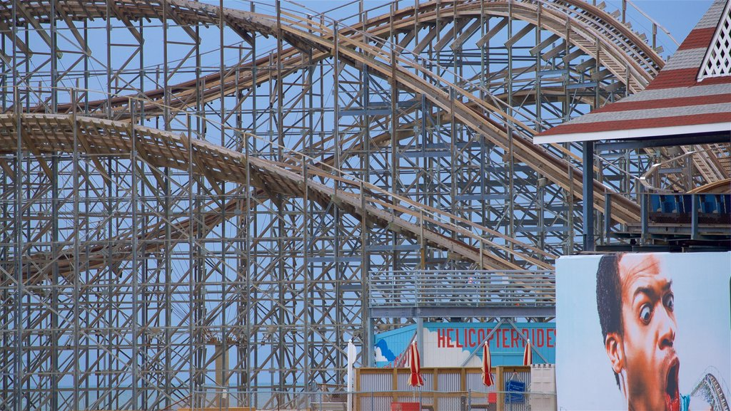 Wildwood Boardwalk which includes rides