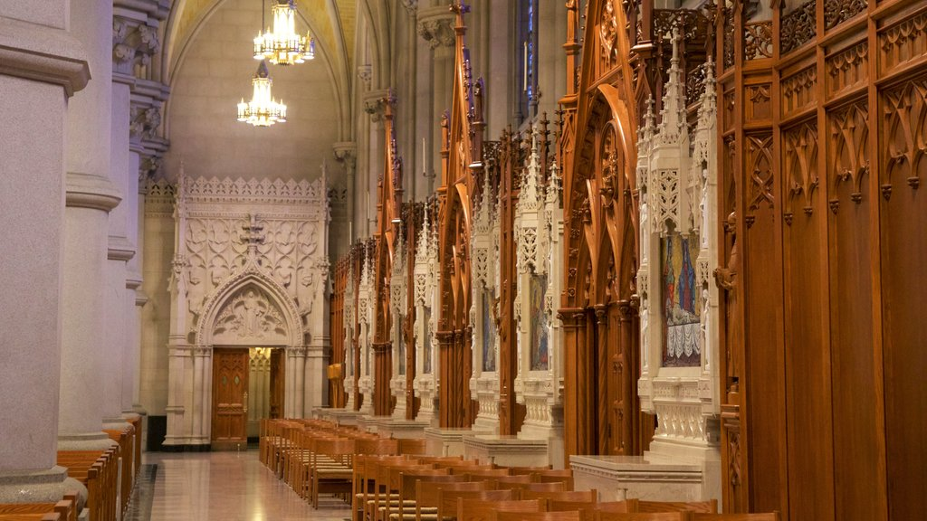 Cathedral Basilica of the Sacred Heart featuring heritage elements, interior views and a church or cathedral