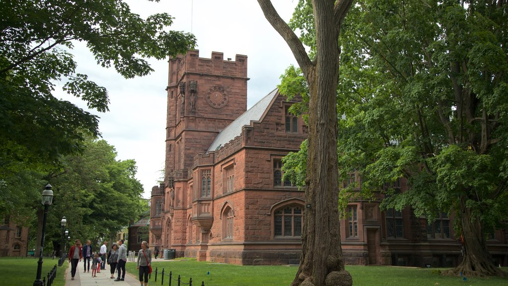 Princeton University which includes heritage architecture as well as a small group of people