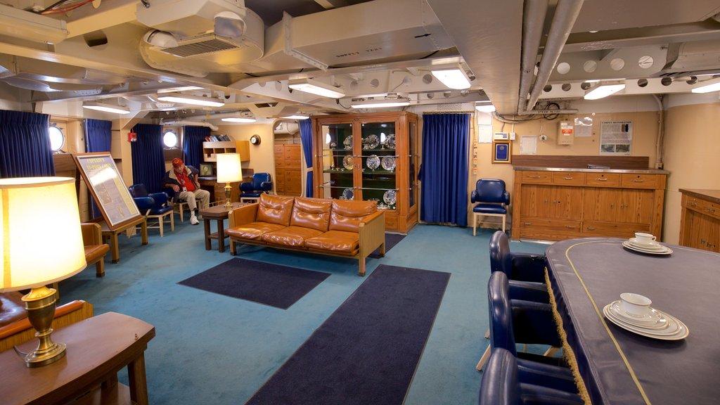 Battleship New Jersey showing interior views