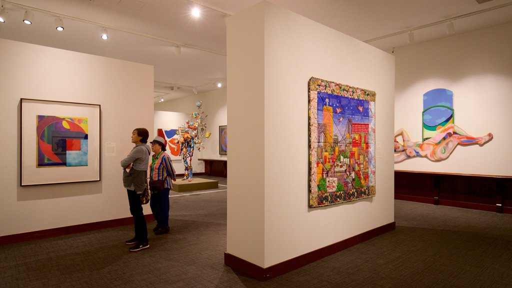 Montclair Art Museum featuring interior views and art as well as a couple