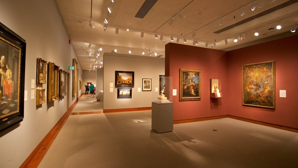 Princeton University Art Museum showing art and interior views