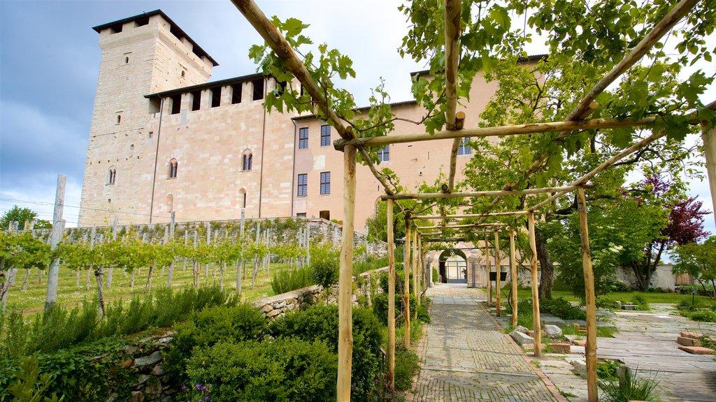 Rocca di Angera which includes a park