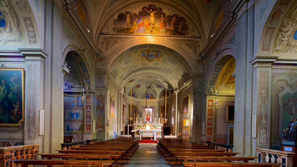 Church of Saints Gervase and Protaso which includes a church or cathedral, heritage elements and interior views