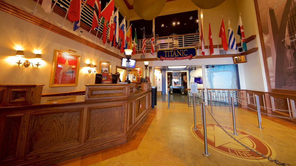 Titanic Museum which includes interior views and heritage elements