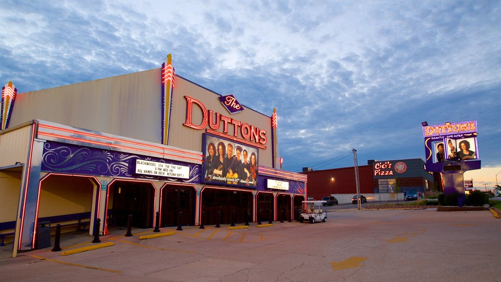 Dutton Family Theater which includes signage