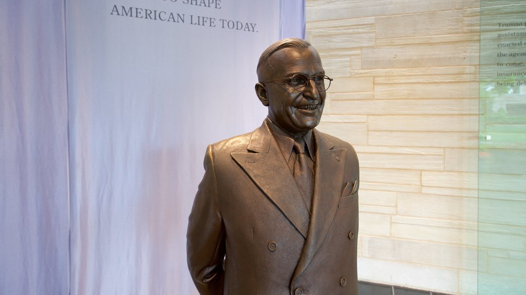 Harry S. Truman Library and Museum which includes a statue or sculpture and interior views