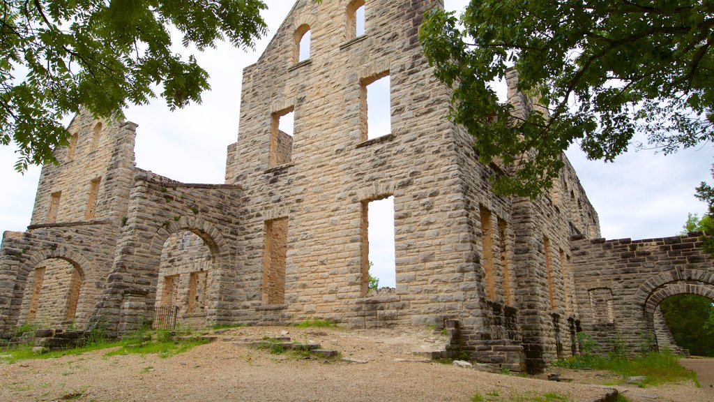 Ha Ha Tonka State Park which includes building ruins and heritage architecture