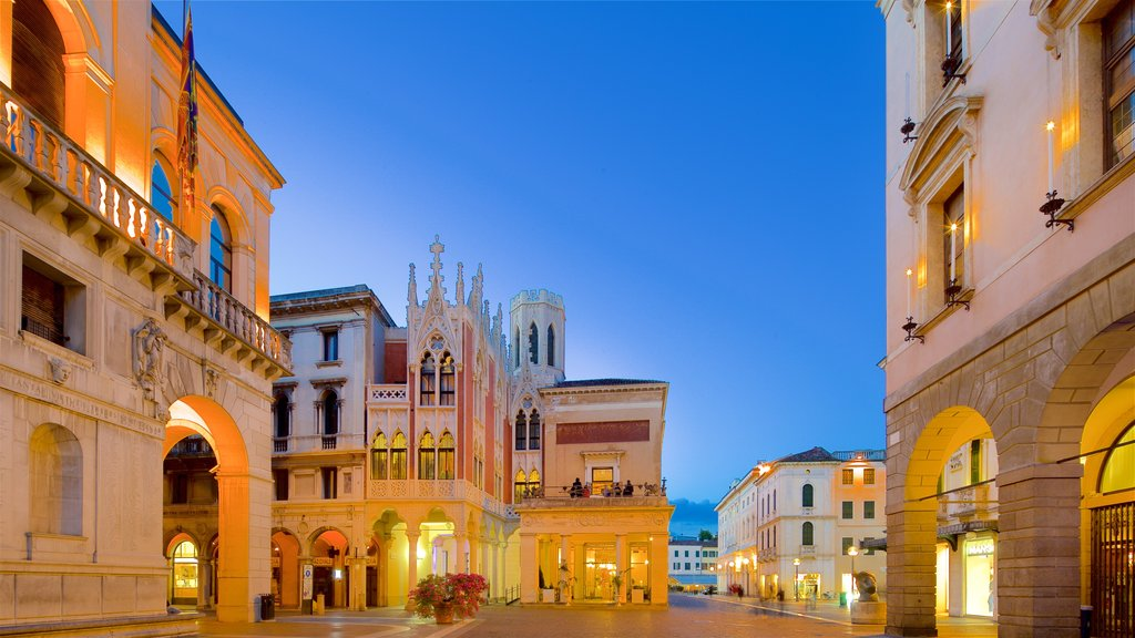 Pedrocchi Cafe featuring night scenes, heritage architecture and a city