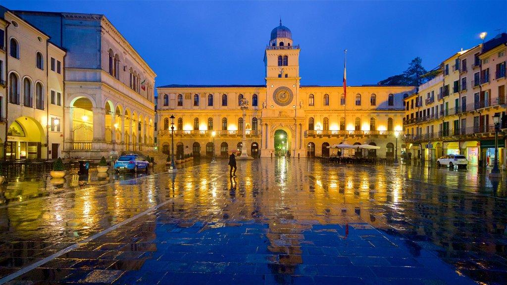Piazza dei Signori featuring night scenes, a square or plaza and heritage architecture