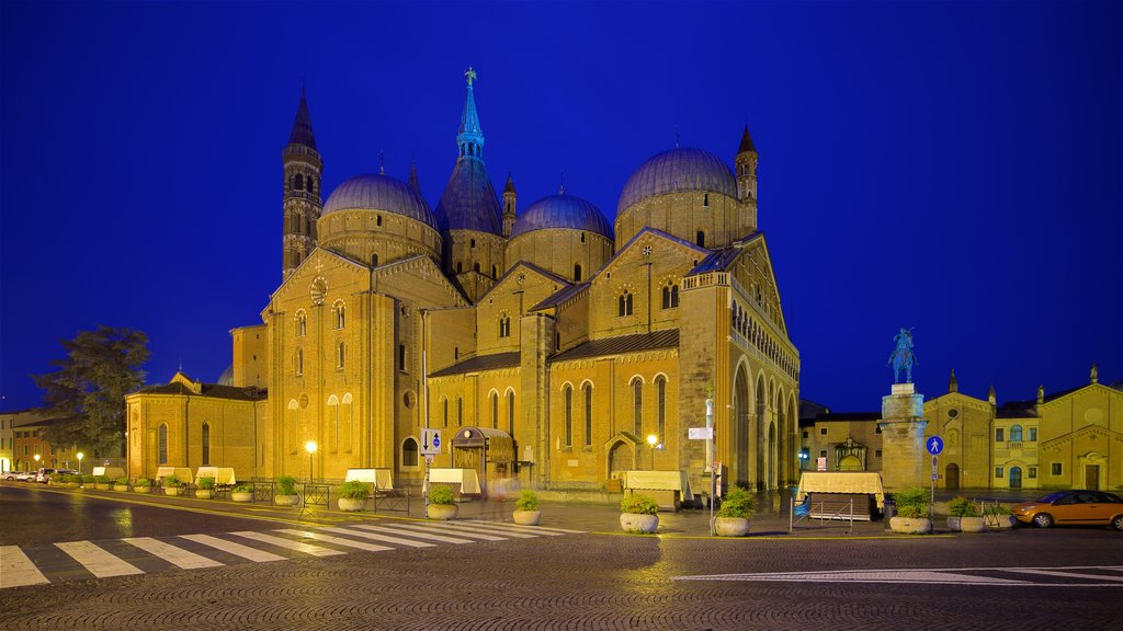 Basilica di Sant\'Antonio da Padova featuring a church or cathedral, heritage architecture and night scenes