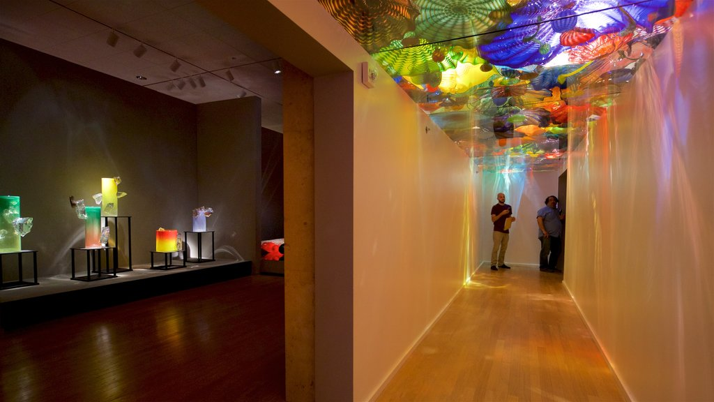 Oklahoma City Museum of Art featuring interior views as well as a small group of people