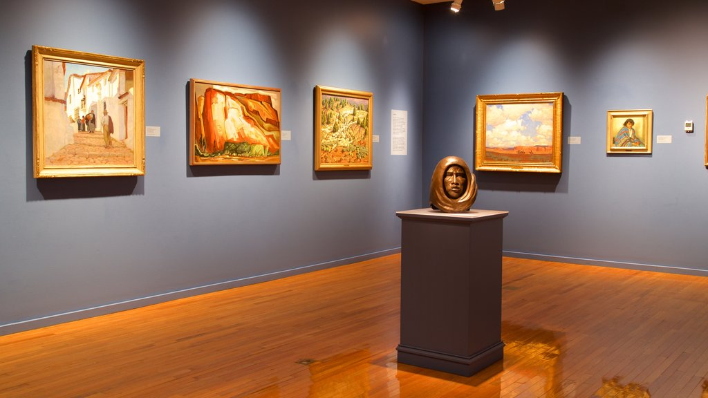 Gilcrease Museum showing art and interior views
