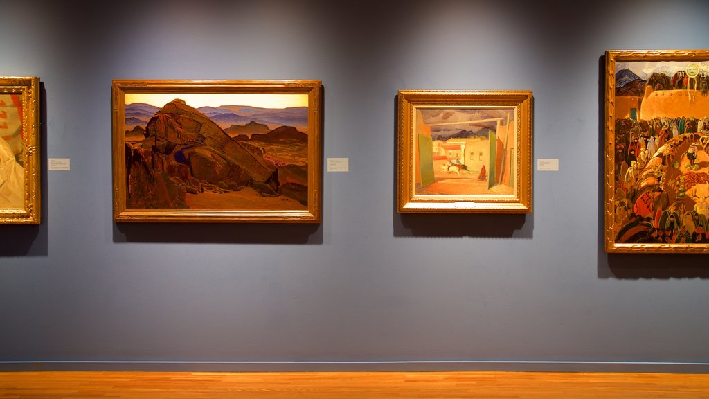 Gilcrease Museum which includes interior views and art