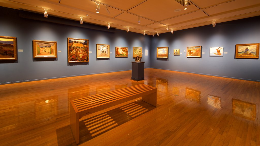 Gilcrease Museum featuring interior views and art