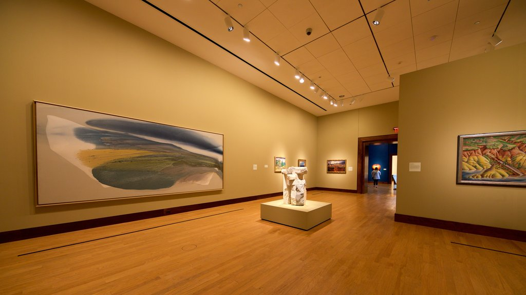 Oklahoma City Museum of Art featuring interior views and art
