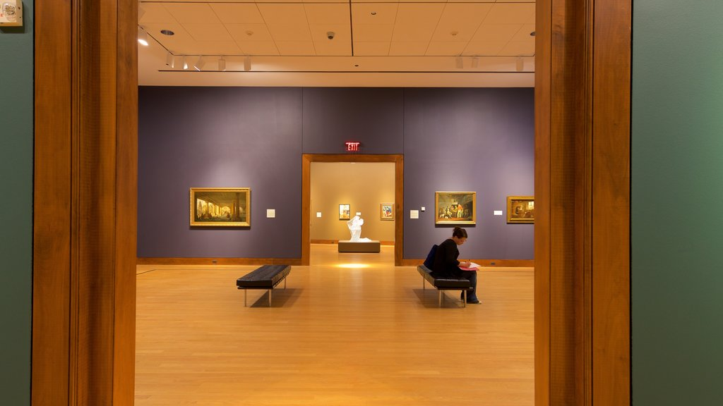 Oklahoma City Museum of Art showing art and interior views as well as an individual femail