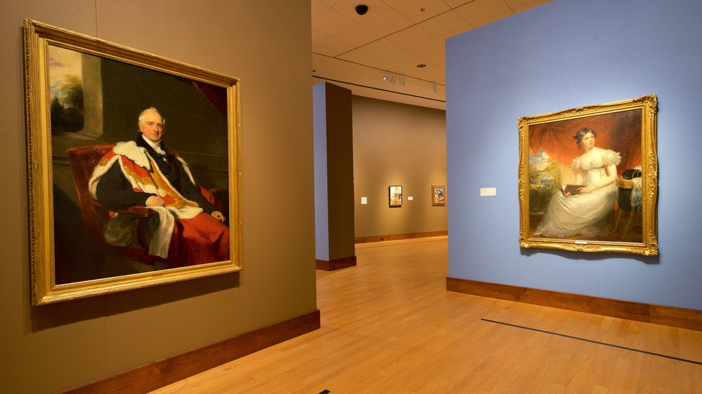 Oklahoma City Museum of Art which includes interior views and art