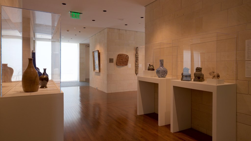 Fred Jones Jr. Museum of Art showing interior views