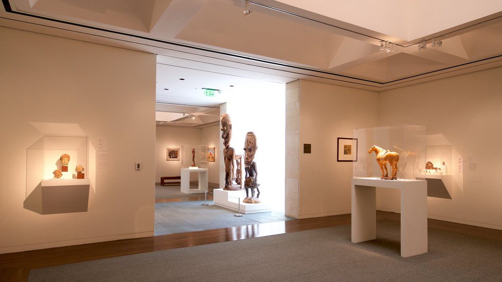 Fred Jones Jr. Museum of Art which includes art and interior views