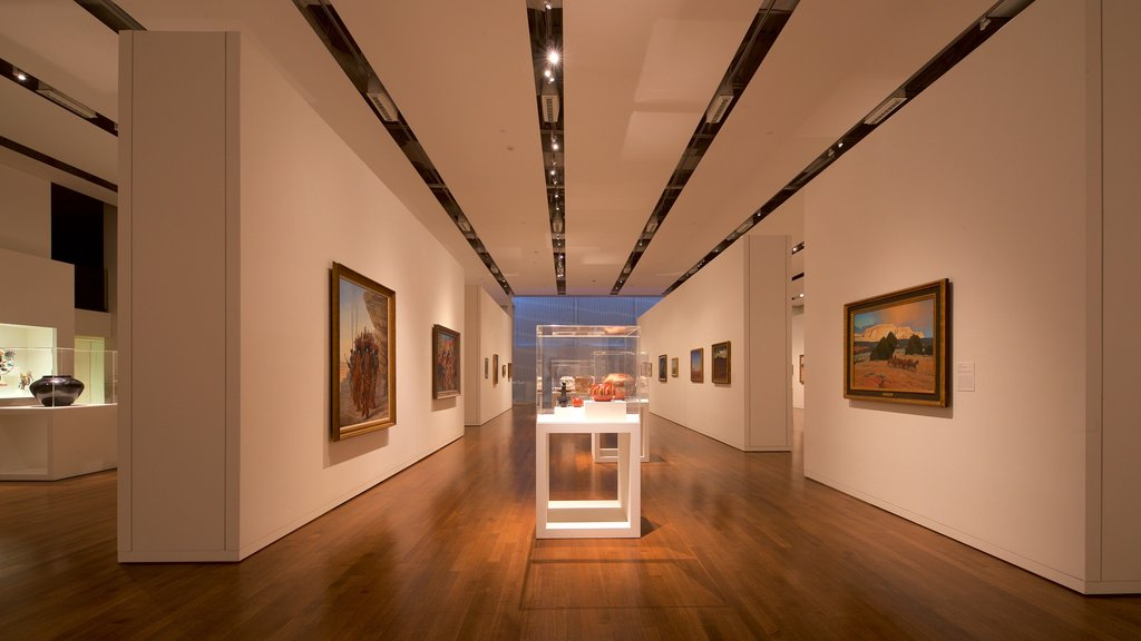 Fred Jones Jr. Museum of Art featuring art and interior views