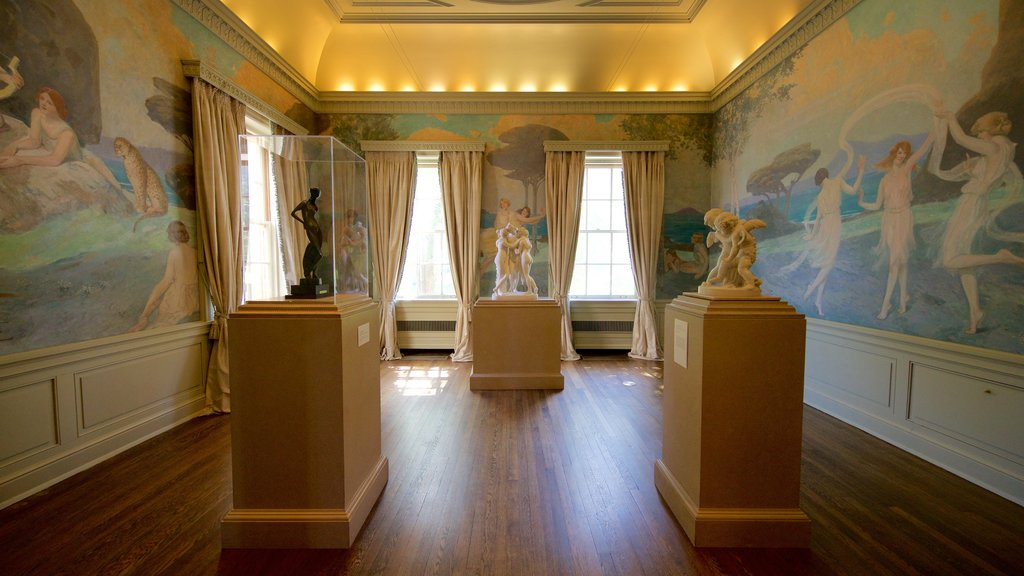 Philbrook Museum of Art featuring interior views and art