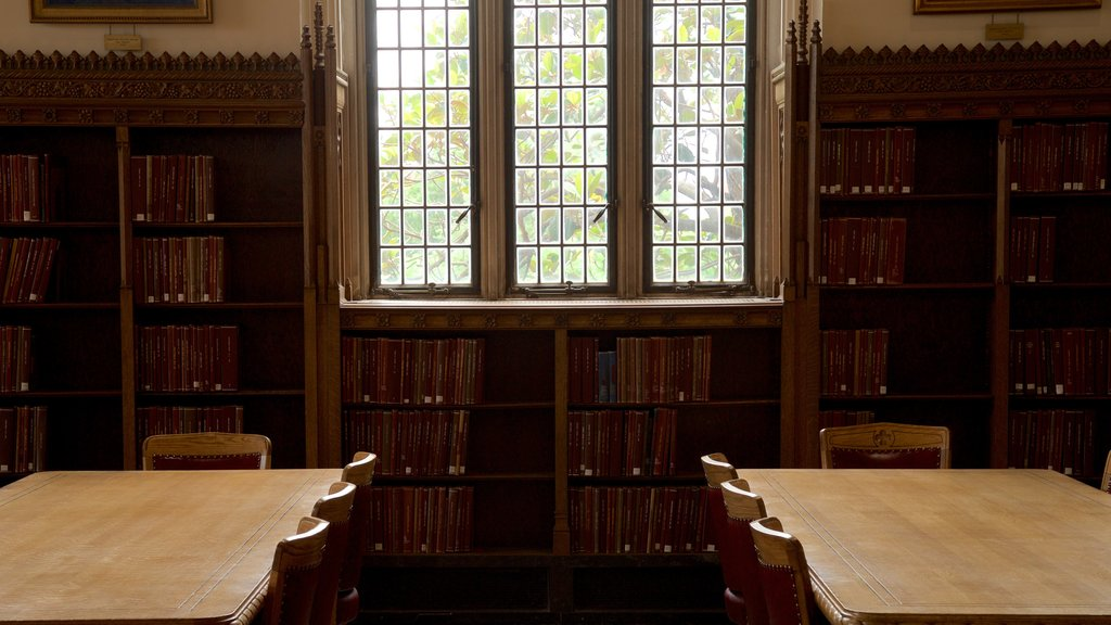 Bizzell Library which includes heritage elements and interior views