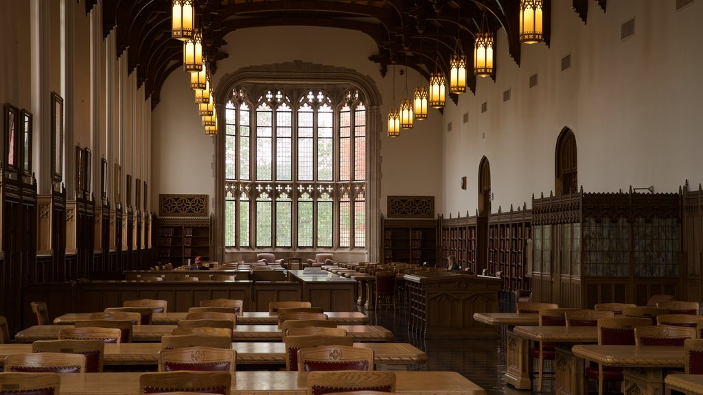 Bizzell Library featuring interior views and heritage elements