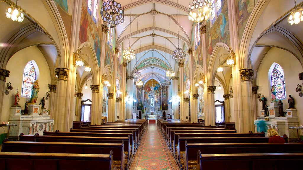 Basilica of Our Lady of Mount Carmel which includes interior views, a church or cathedral and heritage elements