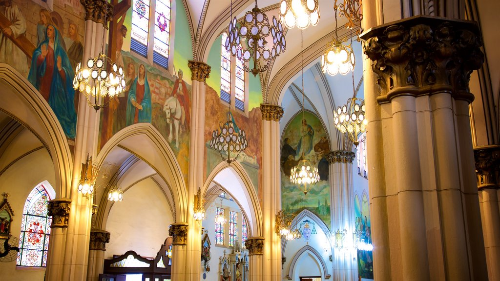 Basilica of Our Lady of Mount Carmel featuring interior views, heritage elements and a church or cathedral