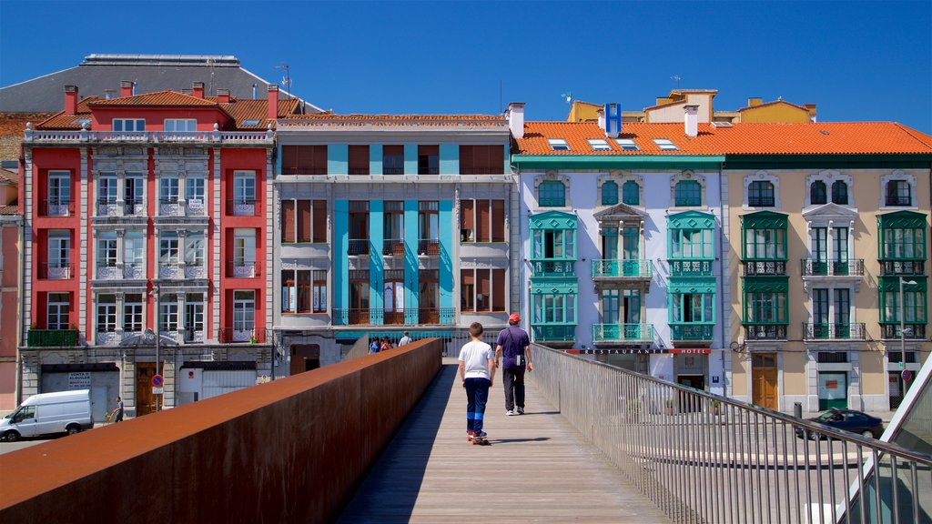 Aviles which includes heritage elements and a bridge as well as an individual child
