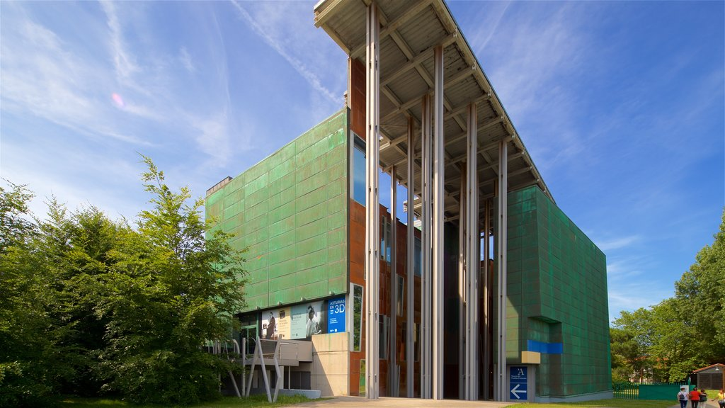 Museum of the Asturian People featuring modern architecture