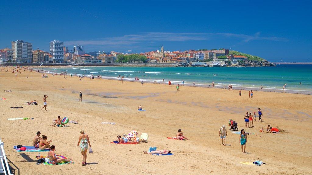 San Lorenzo Beach which includes general coastal views, a coastal town and a city