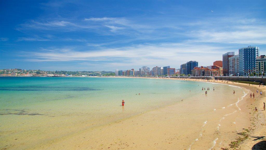 San Lorenzo Beach showing swimming, a sandy beach and general coastal views