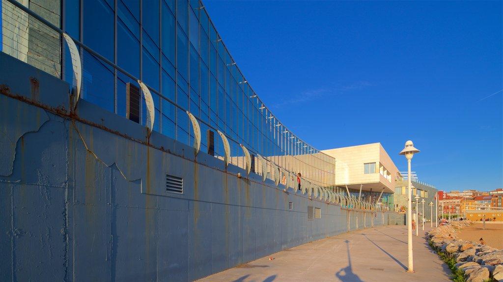 Talasoponiente featuring a coastal town and a beach