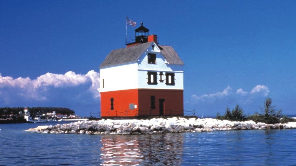 Mackinac Island featuring skyline, island images and a coastal town