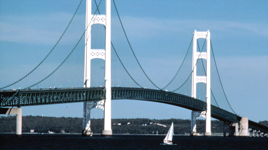 Mackinaw City featuring a bridge and sailing