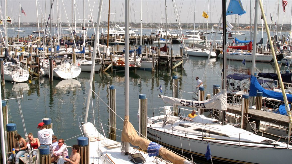 Nantucket which includes a marina, boating and a bay or harbor